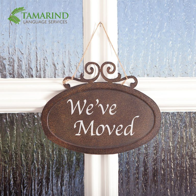 Tamarind Language Services has moved
